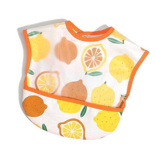 Cotton Adjustable Baby Bibs EVA Plastic Waterproof Lunch Feeding Bibs