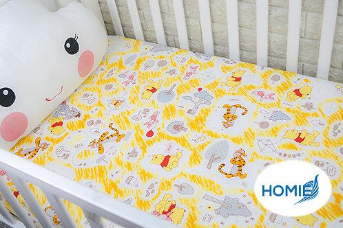 Custom crib sheet Pooh- standard, any Size