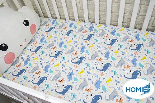 Custom crib sheet dino- standard, any Size