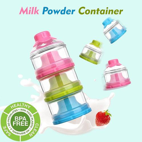 Milk Powder Container Portable 3 Layers Formula Dispenser Snack St