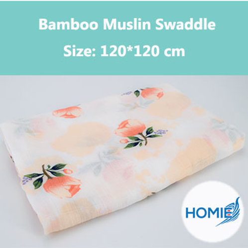 Bamboo Muslin Swaddle-Rose