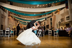 Turquoise and Black Wedding St Louis