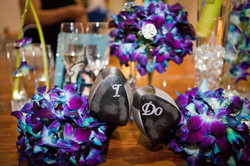 Purple and Turquoise Wedding Orchids