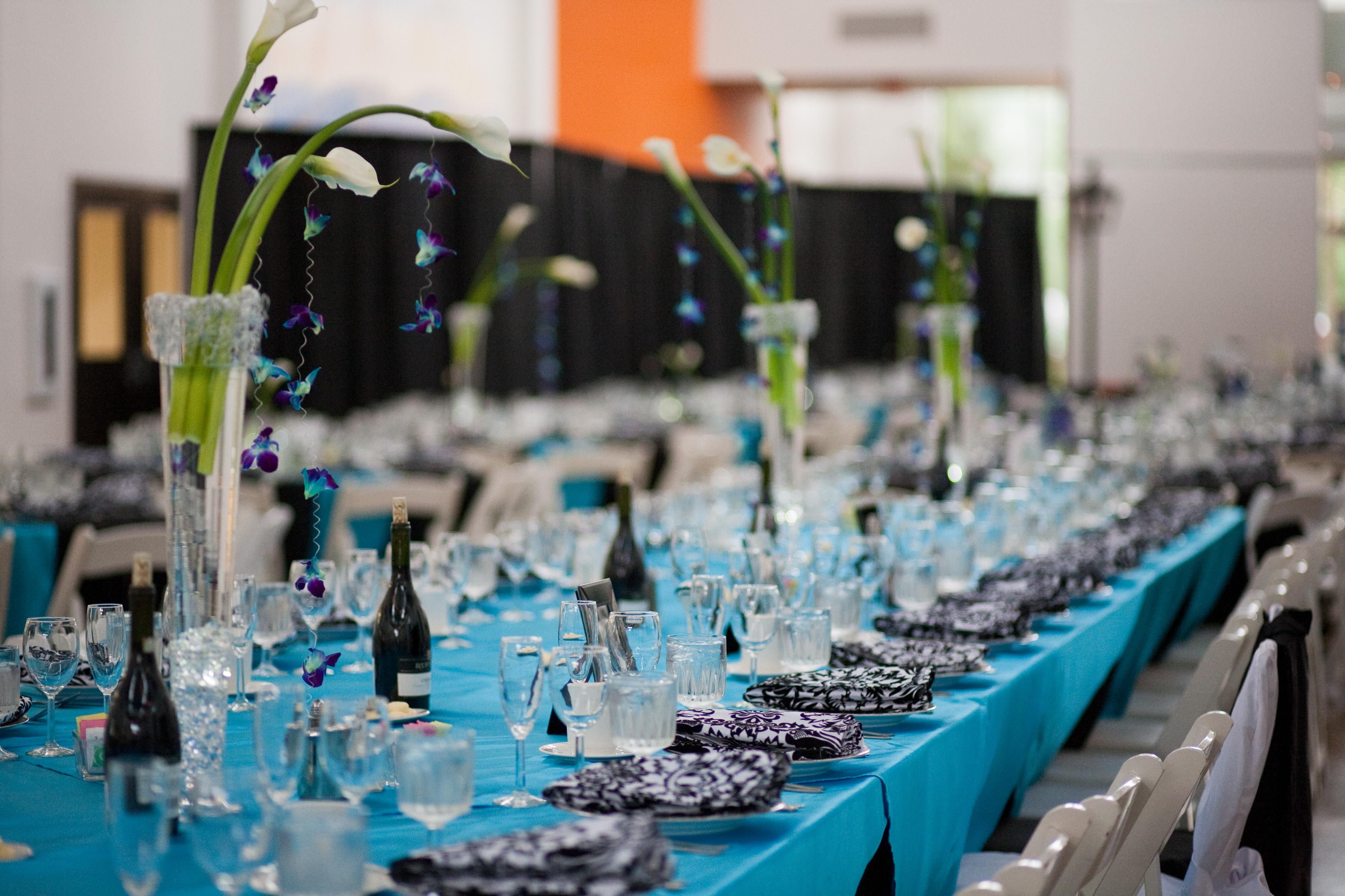 Turquoise and Black Wedding