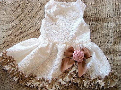French Country Dog Wedding Dress