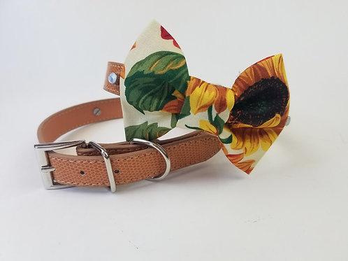 Sunflower bow tie collar | Dog bowtie collar