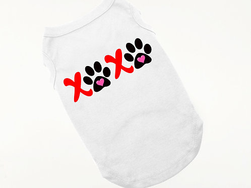 XOXO Valentine dog shirt