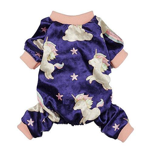 Unicorn Dog Pajamas | Size small