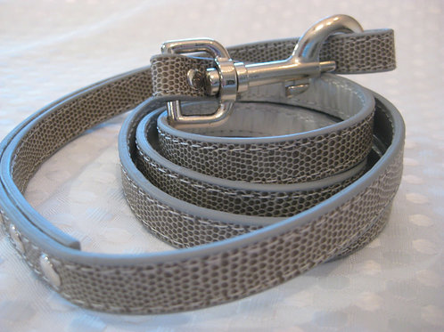 Standard leash- Grey croc