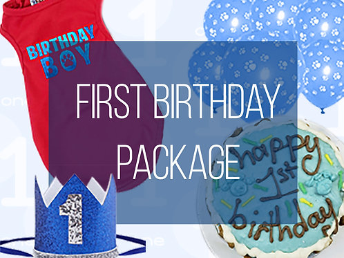 1st Birthday Boy Dog Party Package