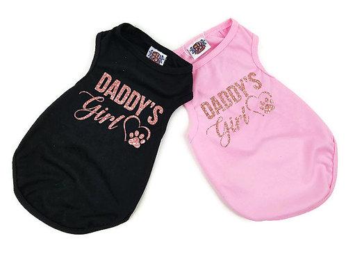 Daddy's Girl Dog Shirt | Black or pink dog shirt