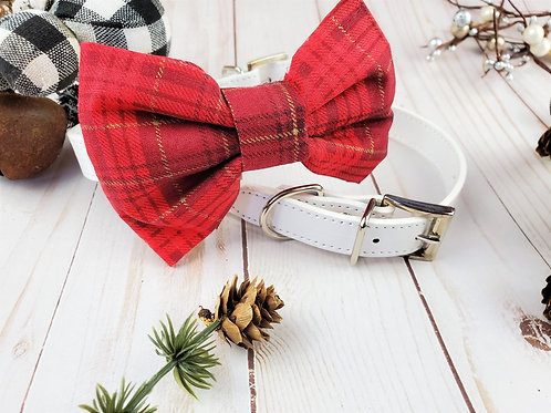 Yuletide Bow tie collar | Holiday pet bowtie
