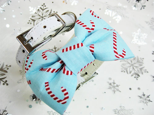 Candy Cane Bow tie collar   Holiday pet bowtie