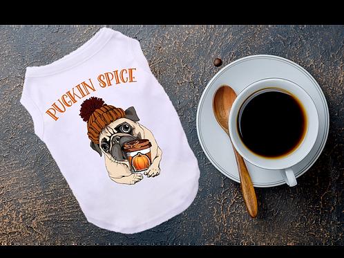 Pugkin Spice dog Shirt | Fall Feels Dog shirt