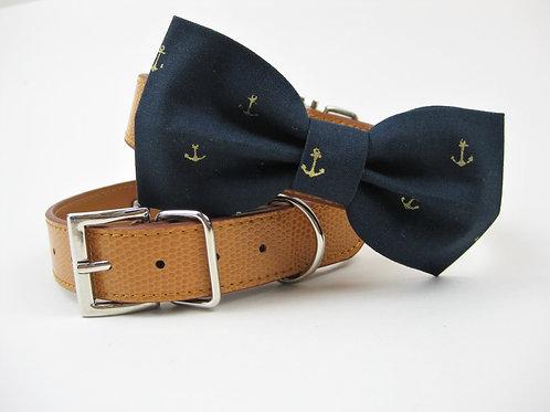Anchor Nautcial Bow tie collar | Navy bowtie collar