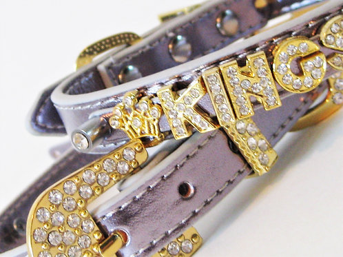 Gold Luxe Crown Collar | Personalized | S M L XL