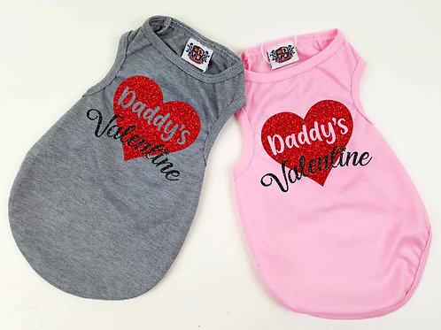 Daddys Valentine Doggy tee | Valentines Day Dog shirt