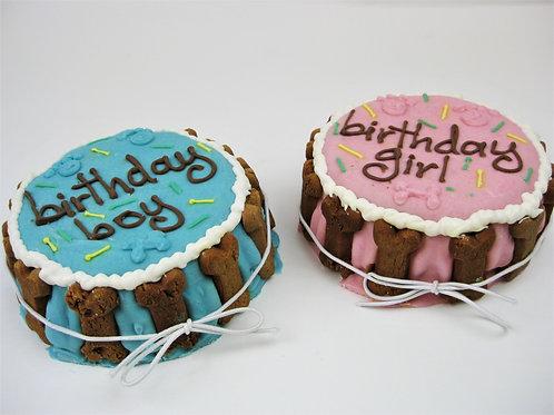 Dog Birthday Cake  - Birthday Boy or Birthday Girl