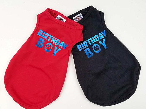 Birthday Boy Dog Shirt | Black or red dog shirt