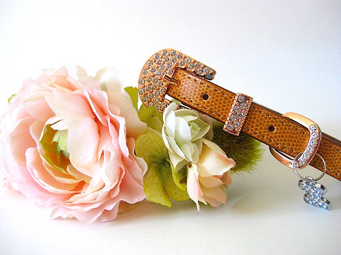 Blush Wedding Collar with rose gold or silvertone buckle