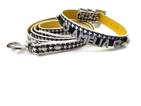 Houndstooth Dog Collar |  Personalized Dog collar