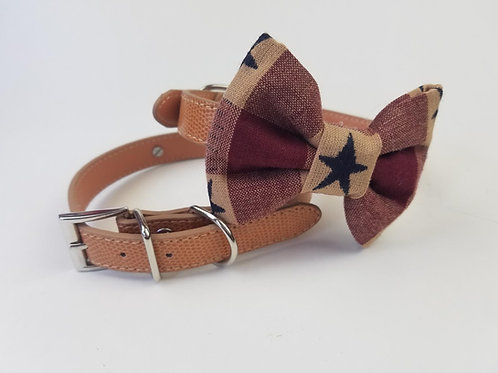 Americana bow tie collar | Dog bowtie collar