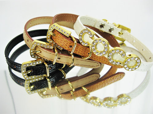 Gold Luxe | The Naturals | XXS and XS collars