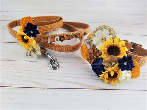 Sunflower and Shine Floral Collar | Matching Leash option