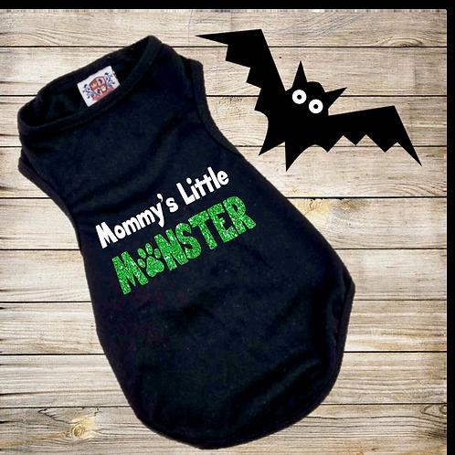 Mommy's Little Monster | Daddy's Little Monster | Halloween Dog Shirt