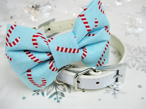 Candy Cane Bow tie collar | Holiday bowtie collar