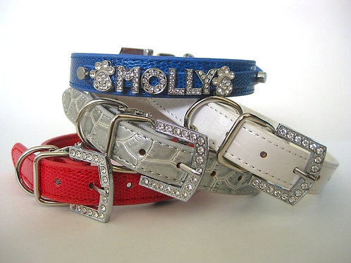 The Patriot Collection | Red, White, Silver or Blue Name Bling Collar