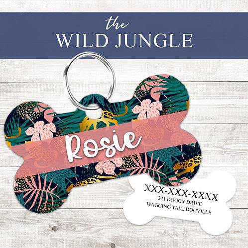 The Wild Jungle Pet Tag   Custom Dog Tag Personalized