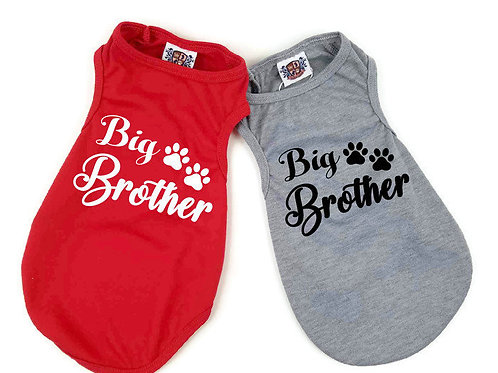 Big Brother Dog Shirt | Black or Red dog shirt