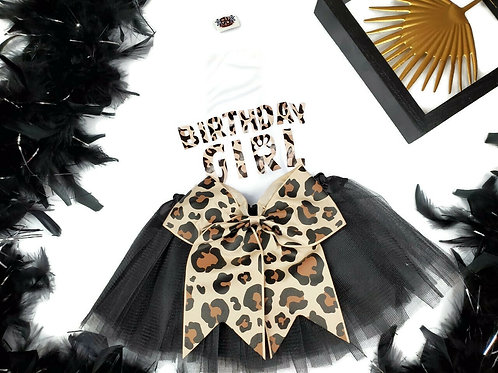 Cheetah Birthday Girl Dog Party Package