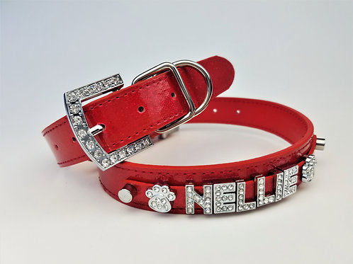 Red Sparkle Personalized Collar