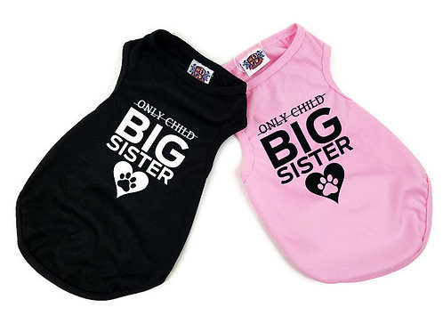 Big Sister Dog Shirt | Black or pink dog shirt