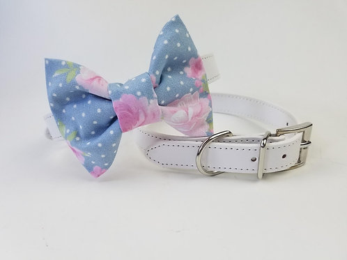 Cornflower Blue bow tie collar | Dog bowtie collar