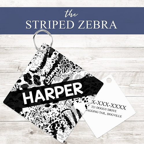The Striped Zebra Pet Tag | Custom Dog Tag Personalized