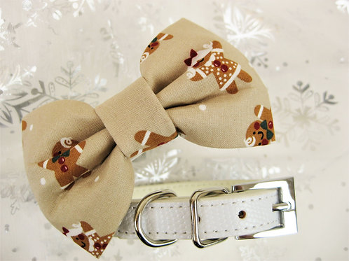 Gingerbread Kid Bow tie collar | Holiday bowtie collar