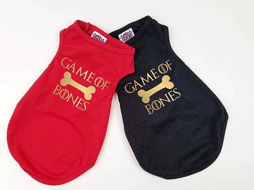 Game of Bones Dog Shirt | Black or red dog shirt