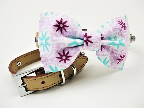 Sasha Bow tie collar | Plum, lavender and mint bowtie collar