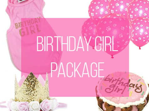 Birthday Girl Dog Party Package