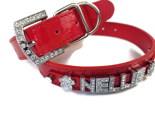 Red Sparkle Dog Collar | XXS & L available