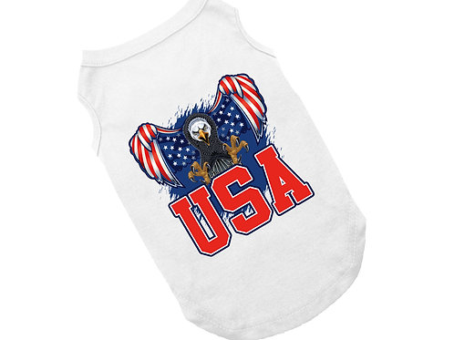 Patriotic Eagle Dog Shirt | 4th of July shirt for dogs