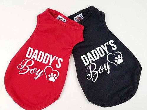 Daddys Boy Dog Shirt | Choose Red or Black