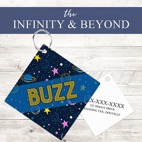 Infinity & Beyond Pet Tag | Custom Dog Tag Personalized