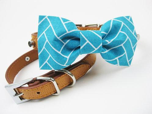 Bobbie Bow tie collar | Blue bowtie collar