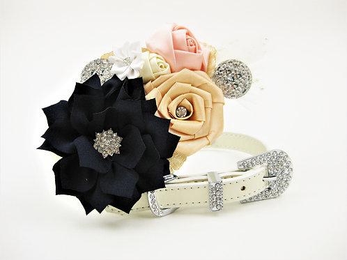 Navy & Blush Flower Collar | Navy Nanette