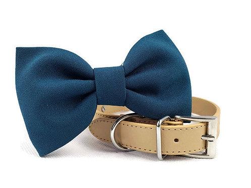 Teal Bow tie collar   Dog bowtie collar