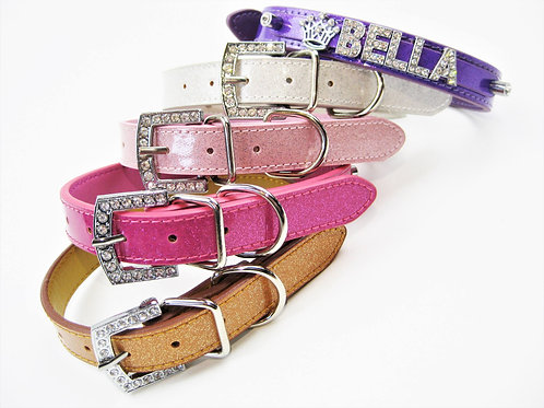The Sparkle Collection | Hot Pink, Platinum, or Baby Pink Name Bling Collar